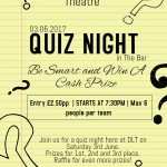 quiz night event poster flyer
